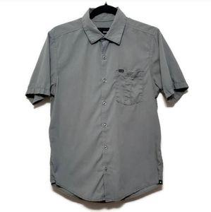 🍂 Hurley casual button up shirt short sleeve gray